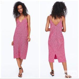 NWT • Zara • Textured Weave Tank Dress